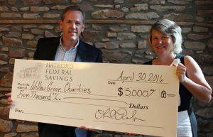 From Left: Willow Grove Charities Secretary Matthew Echelmeier, Hatboro Federal CEO/President Linda Roehner